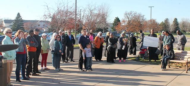 Scores of people gathered at the Coon Rapids Center to support Asma Jama