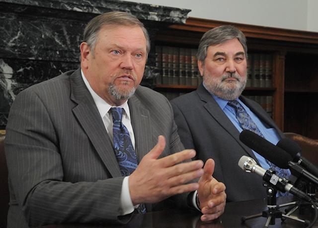 Senate Majority Leader Tom Bakk and Sen. Rod Skoe
