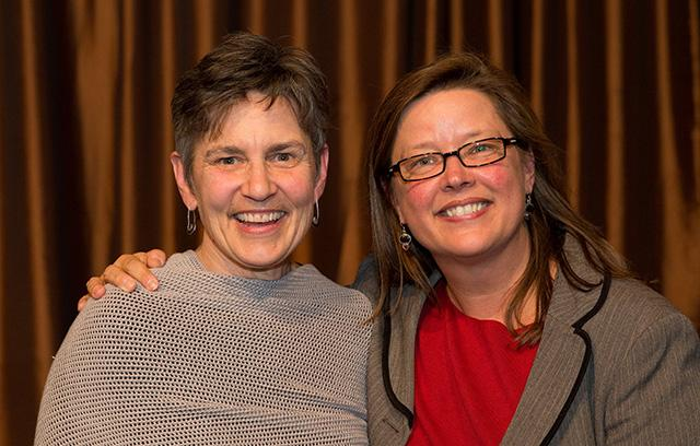 Ann Bancroft, left, and Sara Fenlason, Ann Bancroft Foundation e.d.