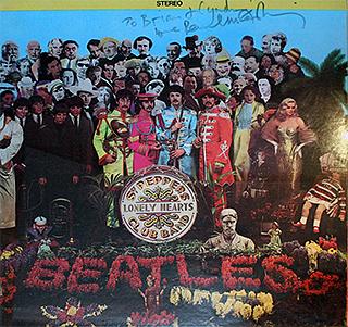 "The autographed ""Sgt. Pepper"" album"