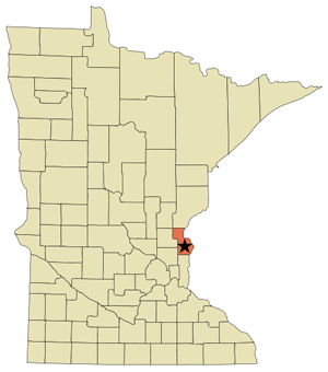 Chisago County Map on