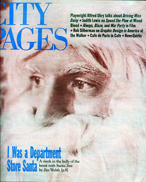 """""""I was a Department Store Santa"""" City Pages cover by Jim Walsh"""