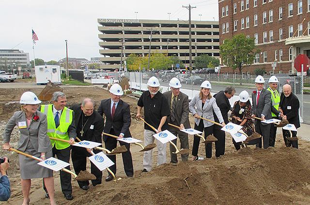 Thursday's ceremonial groundbreaking for the new Dorothy Day Center.