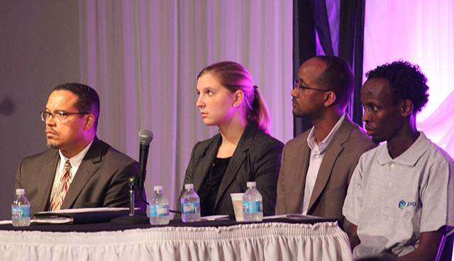 Rep. Keith Ellison, Kristin Toretta, Aden Hassan, Barkhad Abdi