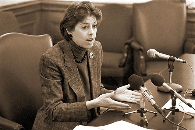 Ember Reichgott Junge served in the Minnesota Senate from 1983-2000.