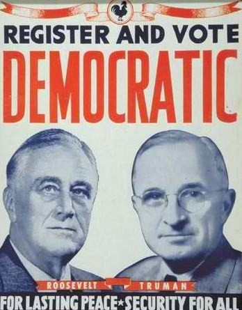 Roosevelt/Truman poster from 1944