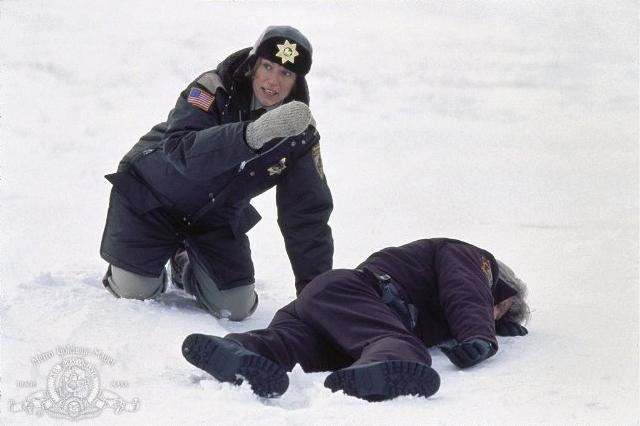 "Frances McDormand in a scene from the 1996 film ""Fargo"""