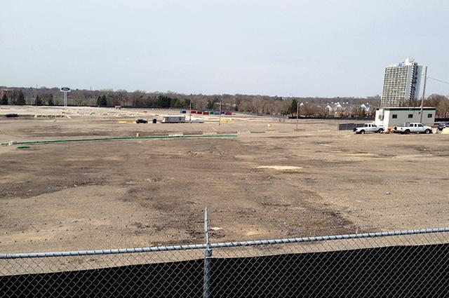 The former site of the St. Paul Ford plant, 2014.