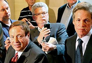 Coleman lawyer Joe Friedberg, Jay Weiner, and Sen. Norm Coleman