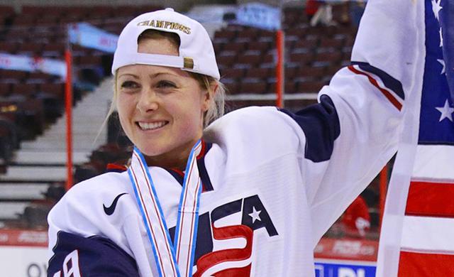U.S. Women's Hockey player Gigi Marvin