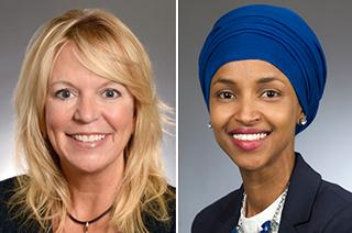 State Sen. Karin Housley and state Rep. Ilhan Omar
