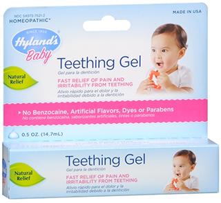 Homeopathic teething gel