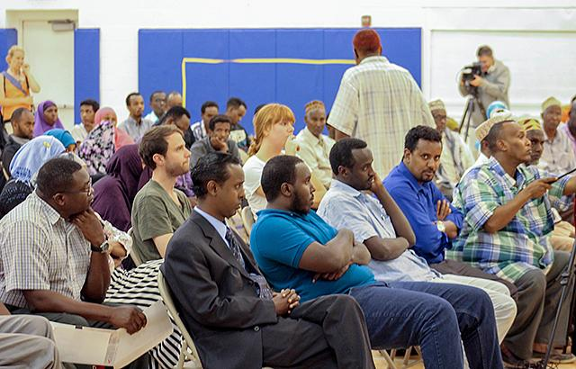 Members of the community gathered Sunday at the Brian Coyle Center