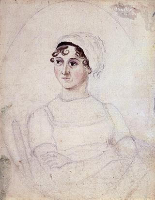Portrait of Jane Austen, c. 1810, by her sister, Cassandra