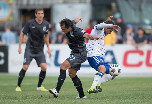 Midfielder Juliano Elizeu Vicentini shown during a recent game versus Edmonton.
