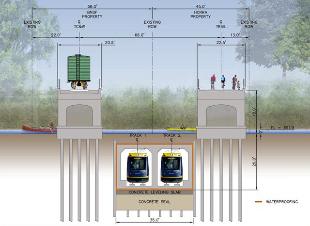 LRT shallow tunnel
