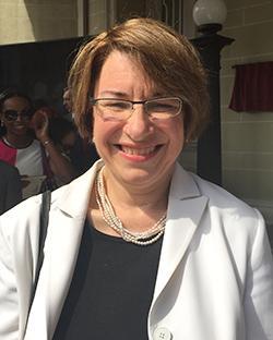 Sen. Amy Klobuchar attending the opening of the Cuban embassy