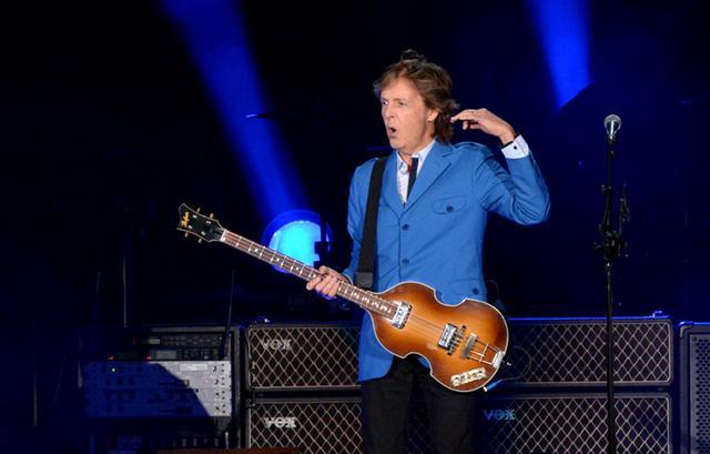 Paul McCartney performing Saturday night at Target Field in Minneapolis.