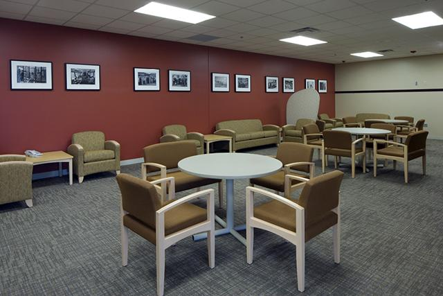 """The """"Living Room"""" which patients can use while getting services"""