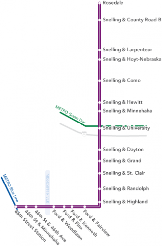 The A Line route