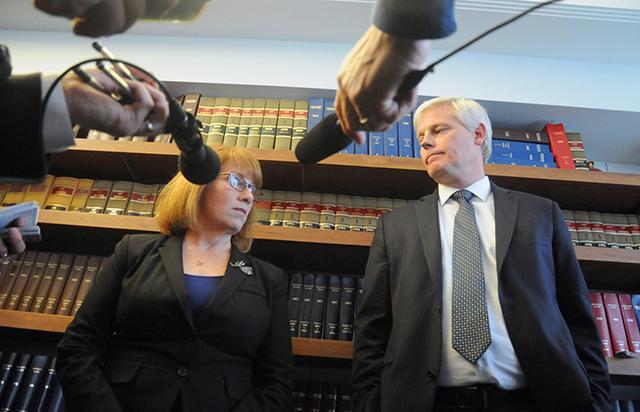 House Majority Leader Erin Murphy and House Speaker Paul Thissen