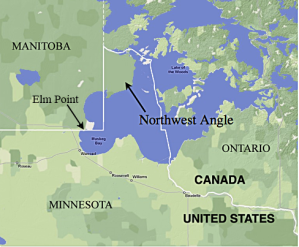 Map of the Northwest Angle