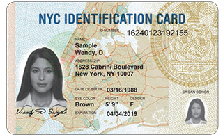 New York City municipal ID card
