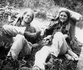 Author Nancy Carlson during an Outward Bound camping trip in 1970.