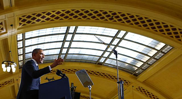 President Obama at Union Depot in February