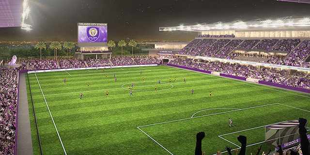 Orlando City's new downtown soccer stadium