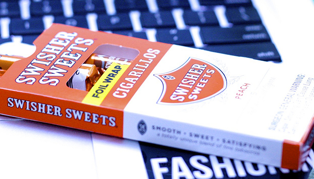 Peach-flavored Swisher Sweets cigarillos