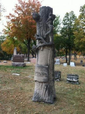 Evans family monument