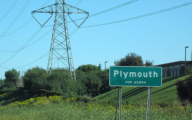 Plymouth city sign