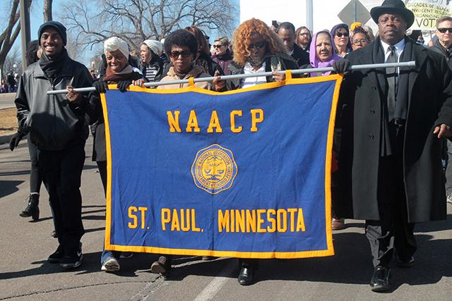 Members of the St. Paul NAACP marched