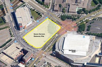 """The """"Seven Corners Gateway"""" site in downtown St. Paul"""