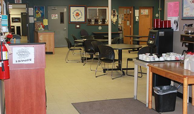 The interior of the Seward Community Support Program.