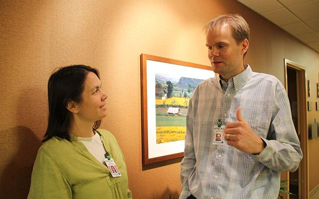 Drs. Shana Sniffen and Jim Letts