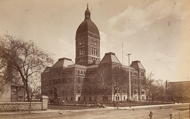 The second State Capitol building in 1886.