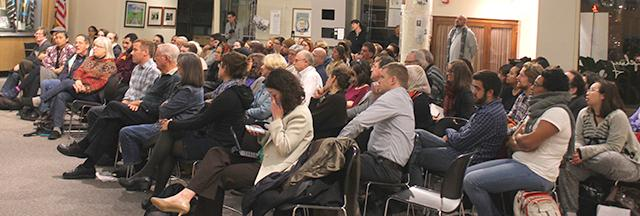 A crowd of more than 80 people attended the panel discussion