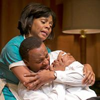 """Erika Lavonn and James T. Alfree in """"The Mountaintop"""""""