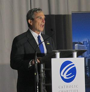 CEO Tim Marx speaking following Thursday's ceremonial groundbreaking.