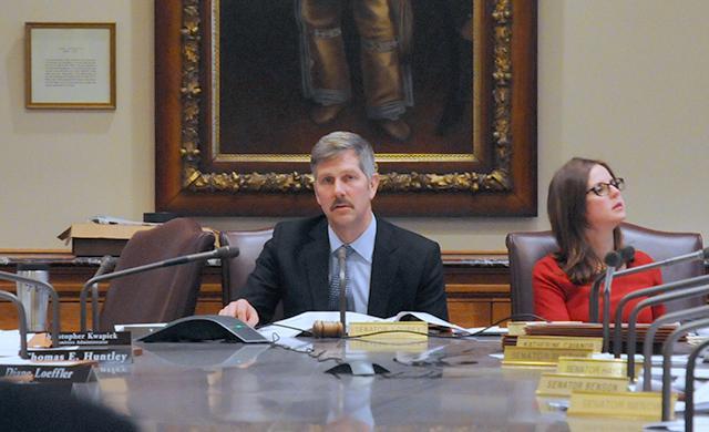 Oversight Committee co-Chairman Sen. Tony Lourey listening to testimony.