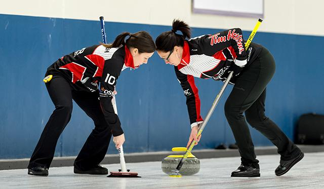Curlers participating in the the 2016 U.S. Open.