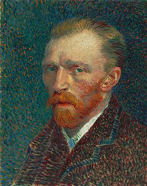 """""""Self-Portrait"""" by Vincent Van Gogh, 1887"""
