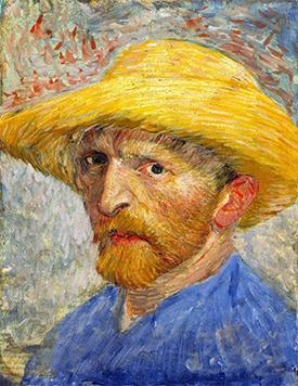 Self-Portrait with Straw Hat, 1887