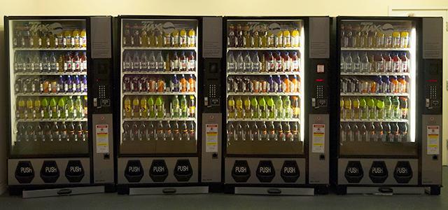 Soft drink vending machines