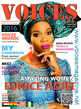 Adjei-Bosompem on the cover of Voices