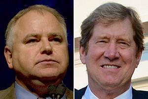 U.S. Reps. Tim Walz and Jason Lewis