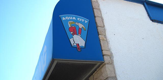 Awning of aqua city plumbing