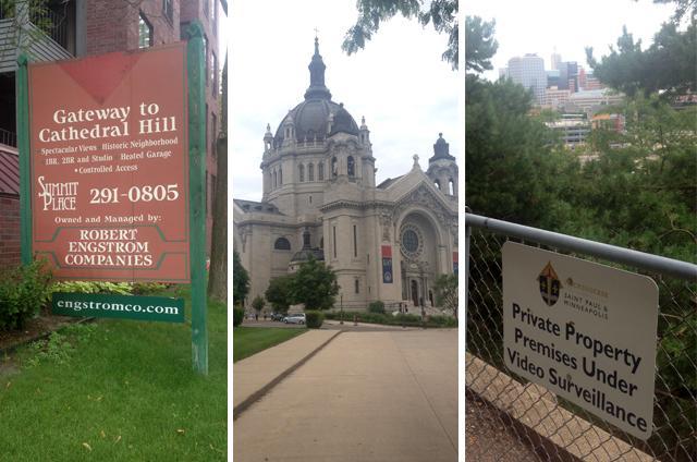 three photos of views of saint paul